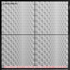 "Форма для 3D панелей ""3D Square"""