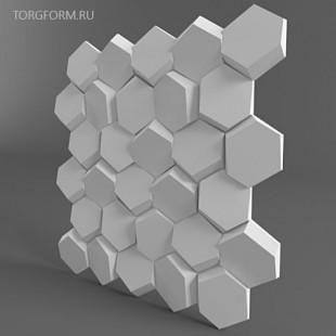 "Форма для 3D панелей ""Улей"""