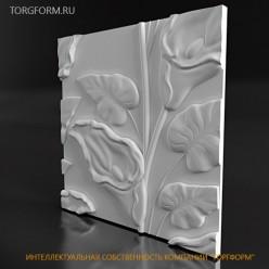 "Форма для 3D панелей ""Lotus"""