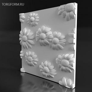 "Форма для 3D панелей  ""Ramashka"""
